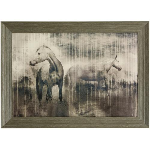 Style Craft - GREY SERENADE  42in w. X 30in ht.  Promotional Textured Framed Print  Made in USA