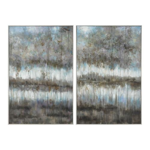Uttermost - Gray Reflections Hand Painted Canvases, S/2