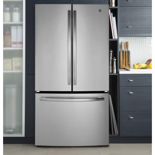 "36"" Bottom mount French door refrigerator, 27 cu.ft"