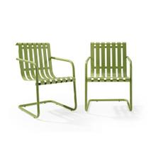 GRACIE 2PC OUTDOOR STAINLESS STEEL CHAIR SET