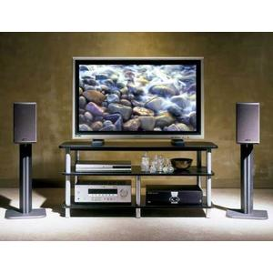 Black Basic Series 16 inches tall for medium to large bookshelf speakers