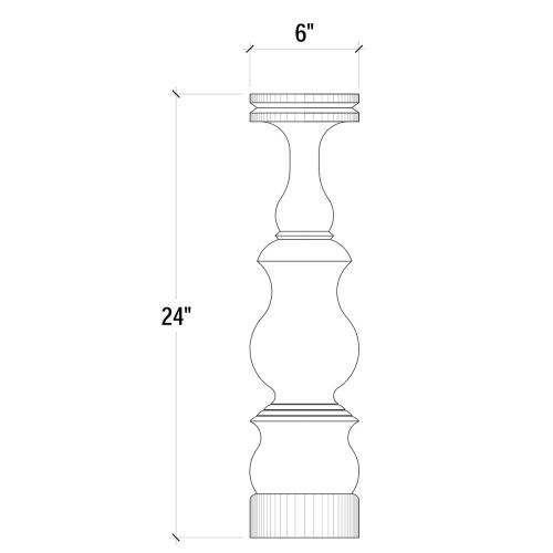 Bobeche Candlestick Large - DRD