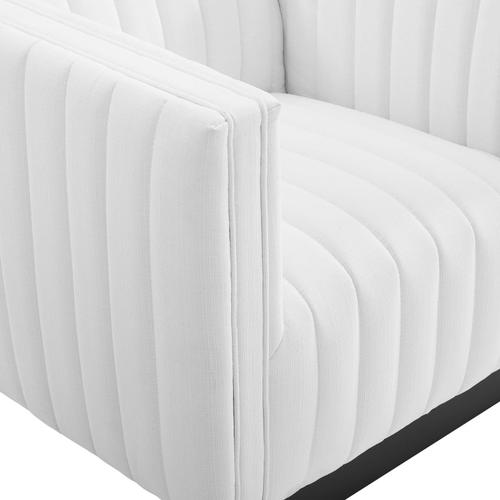 Modway - Conjure Tufted Armchair Upholstered Fabric Set of 2 in White