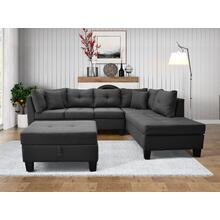 9123 Linen Sectional Sofa - RIGHT