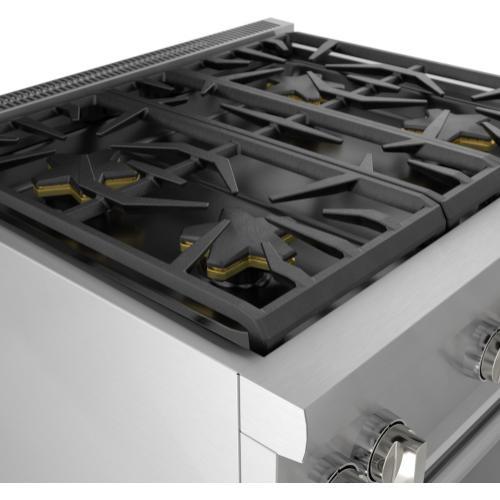 Thermador - Dual Fuel Professional Range 30'' Pro Harmony® Standard Depth Stainless Steel PRD304WHU