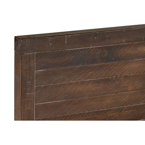 Edinburg Queen Panel Bed, Brown