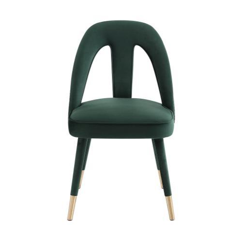 Petra Forest Green Velvet Side Chair