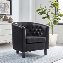 Prospect Upholstered Vinyl Armchair in Black