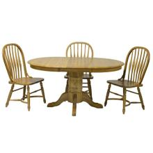 "Laminated 30""H Pedestal Table w/1-18"" Leaf & Empire Feet"