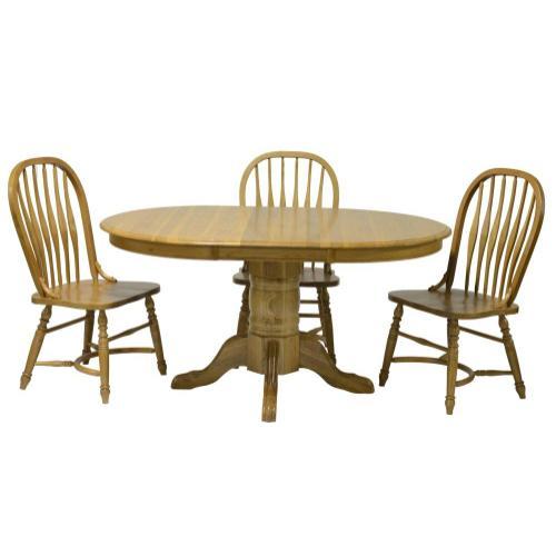 "Tennessee Enterprises - Laminated 30""H Pedestal Table w/1-18"" Leaf & Empire Feet"