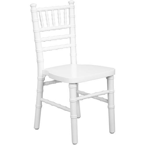 Advantage Kids White Wood Chiavari Chair