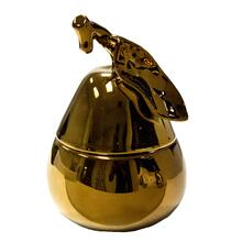 Bronze Ceramic Pear Box