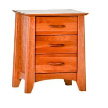 Willow 3 Drawer Nightstand