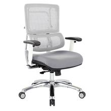 Vertical White Mesh Back Chair