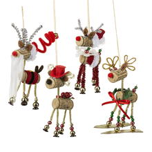 Reindeer Ornaments (8 pc. ppk.)