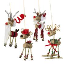 Reindeer Ornaments (8 pc. ppk.)
