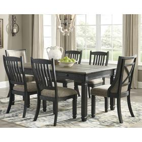 Tyler Creek Table & 4 Chairs & 2 Upholstered Chairs 2 Tone