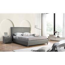 Modrest 2101 Modern Grey Bonded Leather Bed