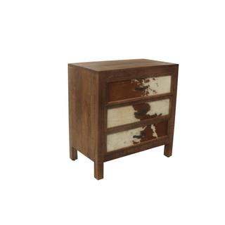 Ft. Worth Brown Cowhide 3 Drawer Chest