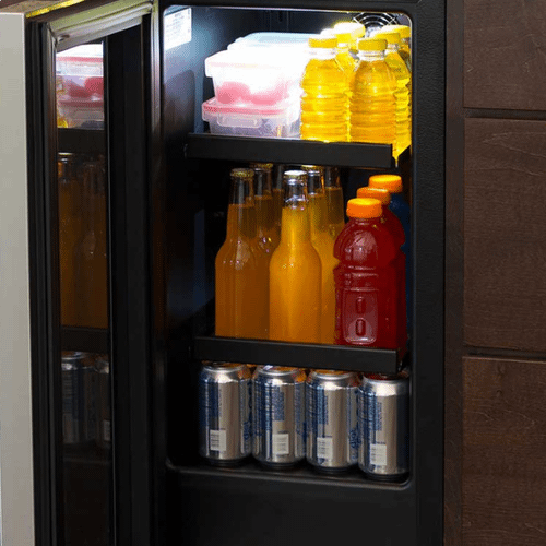 Marvel - 15-In Built-In Beverage Center with Door Style - Stainless Steel Frame Glass