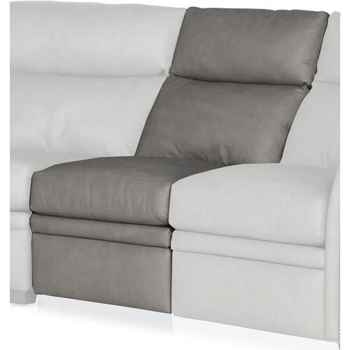 Bradington Young Raiden Armless Chair Full Recline w/Articulating Headrest - Two Pc Back 204-33-2