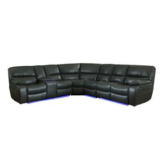 See Details - Power Reclining Sectional w/ Console and LED