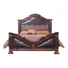 Queen Fine Laquer Tooled Leather Bed