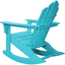 Hanover All-Weather Adirondack Rocking Chair in Aruba, HVLNR10AR