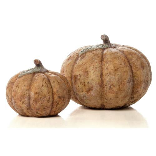 Medium Round Homespun Pumpkin