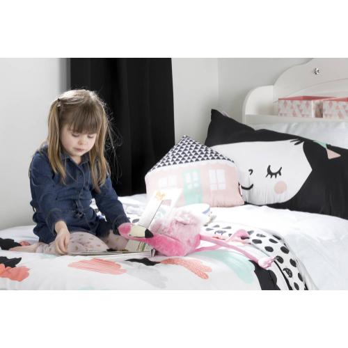 Night Garden Comforter and Pillowcases - Black and White