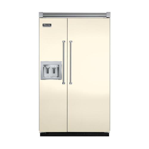"""Viking - Biscuit 48"""" Quiet Cool™ Side-by-Side with dispenser - VISB Tru-Flush™ (48"""" wide)"""