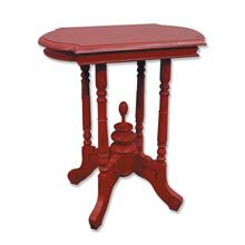 See Details - Victorian Side Table - Red