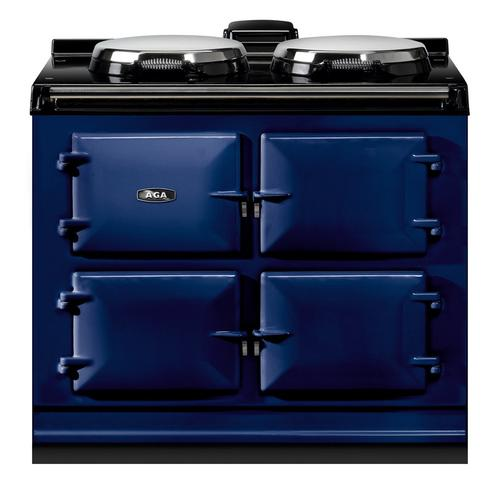 "AGA Dual Control 39"" Electric Dark Blue with Stainless Steel trim"