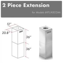 """See Details - ZLINE 2-36"""" Chimney Extensions for 10 ft. to 12 ft. Ceilings (2PCEXT-697i/KECOMi)"""
