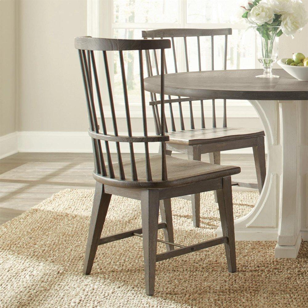 Windsor Side Chair - Charcoal Finish