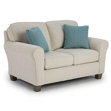 ANNABEL LOVESEAT ROLLED ARM, TAPERED LEG Stationary Loveseat