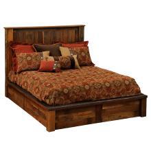 Copper Inset Platform Bed - Cal King