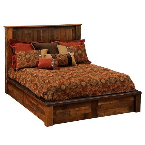 Copper Inset Platform Bed - Queen
