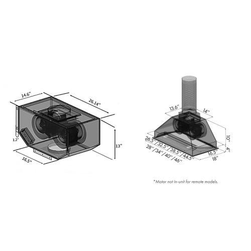 Zline Kitchen and Bath - ZLINE Single Remote Blower Range Hood Insert in Stainless Steel (698-RS) [Size: 34 Inch]