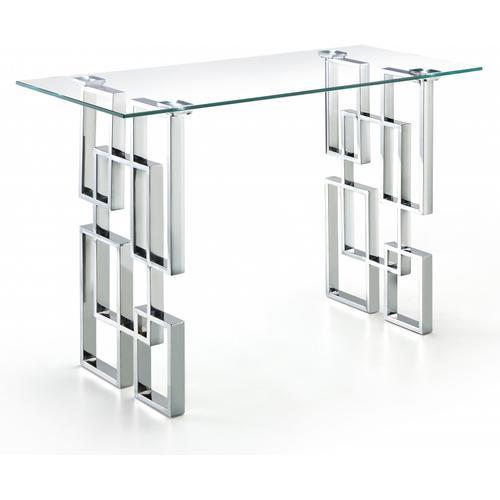 "Alexis Chrome Coffee Table - 48"" W x 24"" D x 16"" H"
