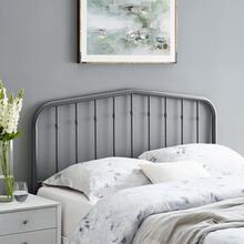 Lennon King Metal Headboard in Gray