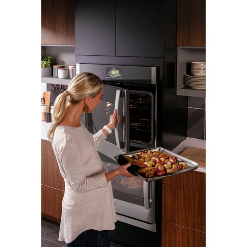 "GE Profile™ 30"" Smart Built-In Convection Double Wall Oven with Left-Hand Side-Swing Doors"