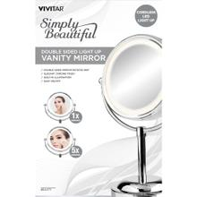 Double-Sided Lighted Vanity Mirror