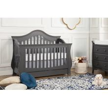 Manor Grey Ashbury 4-in-1 Convertible Crib with Toddler Bed Conversion Kit