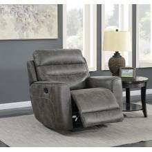 See Details - Sintra Charcoal Faux Leather Manual Recliner