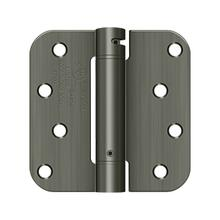 "4"" x 4"" x 5/8"" Spring Hinge, UL Listed - Antique Nickel"