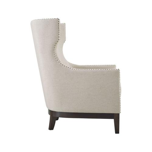 Roswell Wing Back Chair, Beige