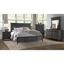 QUEEN 4PC - Q/D/M/NS - Grey Stain