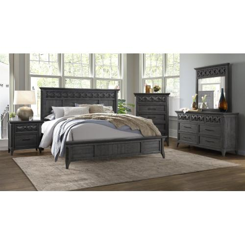 QUEEN BED - HB/FB/R - Grey Stain