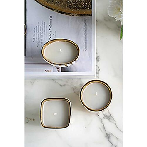 A & B Home - S/3 Bling Candles